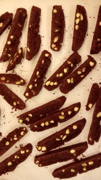 Chocolate and Pistachio Cantuccini (small biscotti) 2